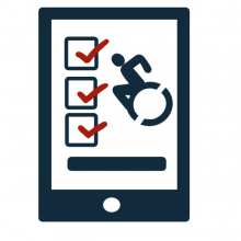 Clickable icon for the accessibility checklist page
